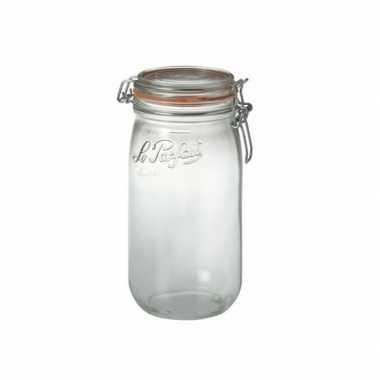 Goedkope weckpotten/inmaakpotten klepdeksel . liter