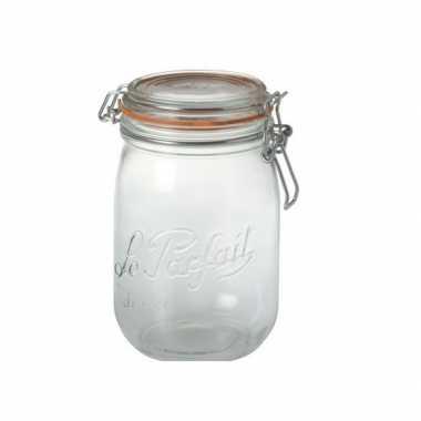 Goedkope weckpotten/inmaakpotten klepdeksel liter