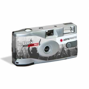 Goedkope wegwerp camera flitser zwart/wit fotos