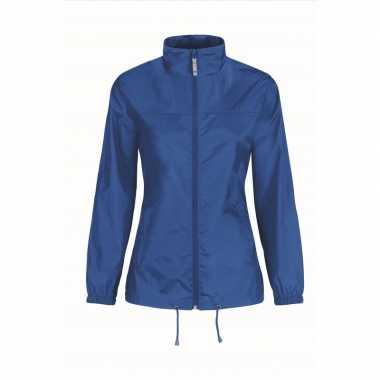 Goedkope windjas/regenjas dames kobaltblauw