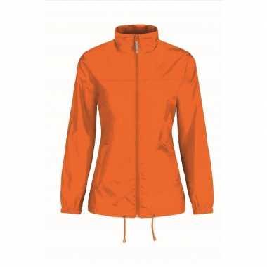 Goedkope windjas/regenjas dames oranje