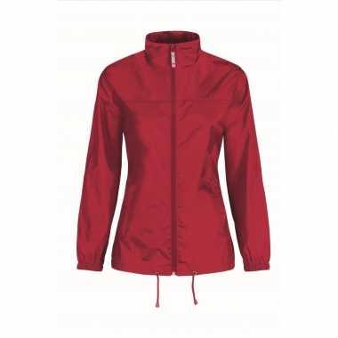 Goedkope windjas/regenjas dames rood