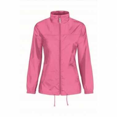Goedkope windjas/regenjas dames roze