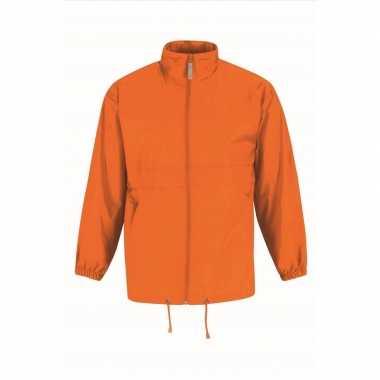 Goedkope windjas/regenjas heren oranje