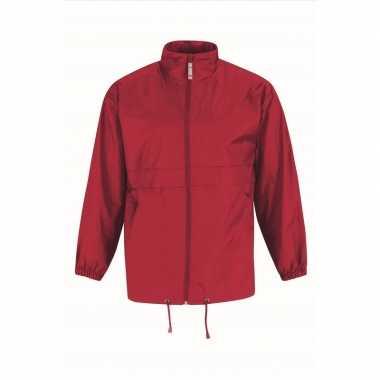 Goedkope windjas/regenjas heren rood