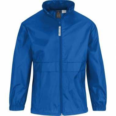 Goedkope windjas/regenjas jongens kobaltblauw