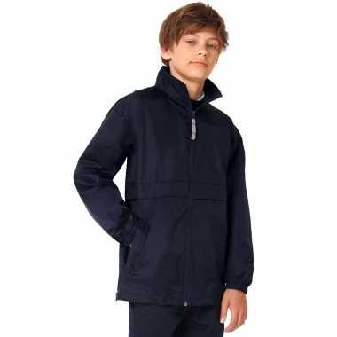Goedkope windjas/regenjas jongens marineblauw