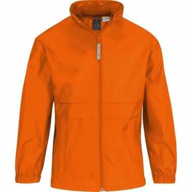 Goedkope windjas/regenjas jongens oranje