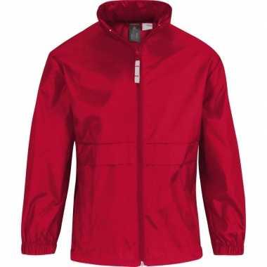 Goedkope windjas/regenjas jongens rood