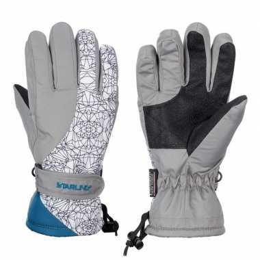 Goedkope winter handschoenen starling mirre grijs/wit kinderen