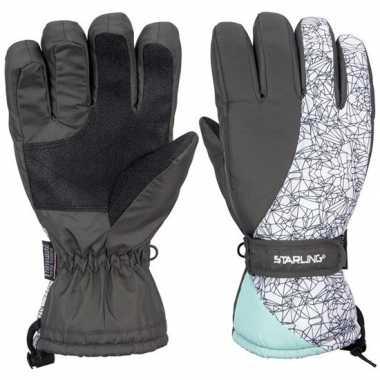 Goedkope winter handschoenen starling noel mintgroen volwassenen