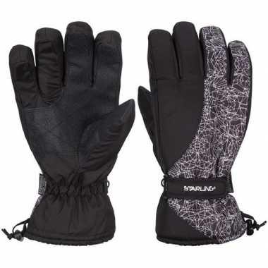 Goedkope winter handschoenen starling noel zwart/wit volwassenen