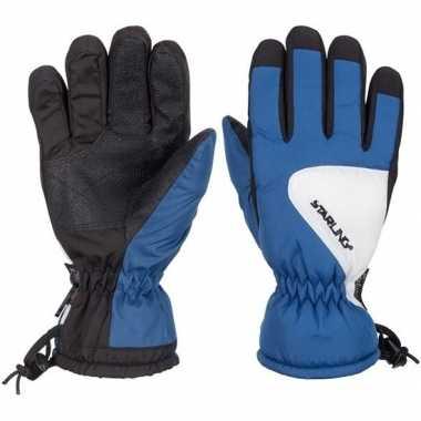 Goedkope winter handschoenen starling riva kobalt/zwart/wit kinderen