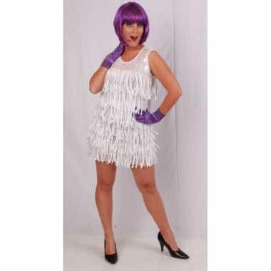 Goedkope wit glamour jurkje dames