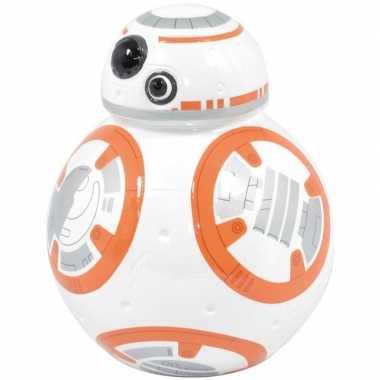 Goedkope wit/oranje star wars spaarpot bb robot/droid