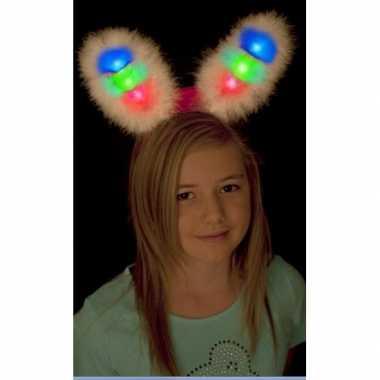 Goedkope witte bunny oren gekleurd led licht