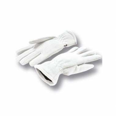 Goedkope witte fleece handschoenen volwassenen