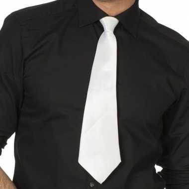 Goedkope witte gangster stropdas verkleedaccessoire dames/heren