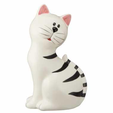 Goedkope witte kat zwarte strepen spaarpot