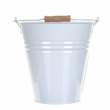 Goedkope witte metalen drankemmer/drankkoeler liter