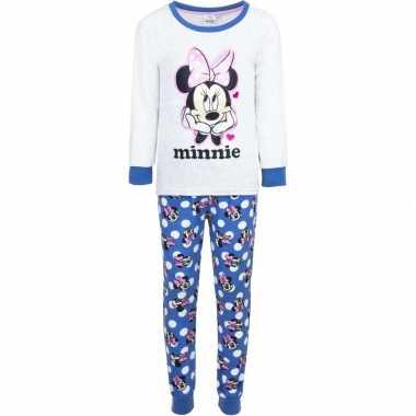 Goedkope witte minnie mouse pyjama meisjes