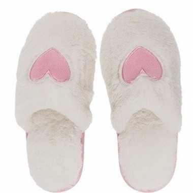 Goedkope witte pantoffel dames slippers hartjes