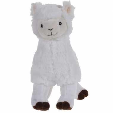 Goedkope witte pluche alpaca/lama knuffel