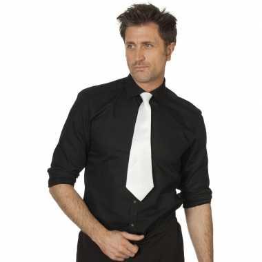 Goedkope witte stropdas verkleedaccessoire dames/heren