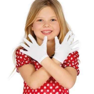 Goedkope witte verkleed handschoenen kinderen