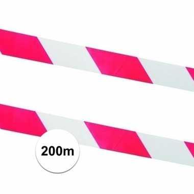 Goedkope x afzetlinten / markeringslinten rood wit meter