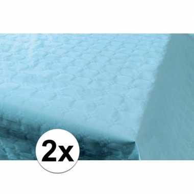 Goedkope x babyblauw papieren tafelkleed rol