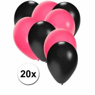 Goedkope x ballonnen sweet zwart roze