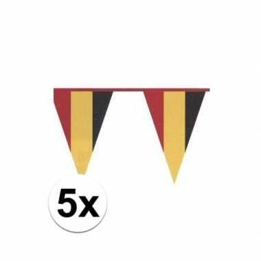 Goedkope x belgische plastic vlaggenlijn nationale belgische kleuren