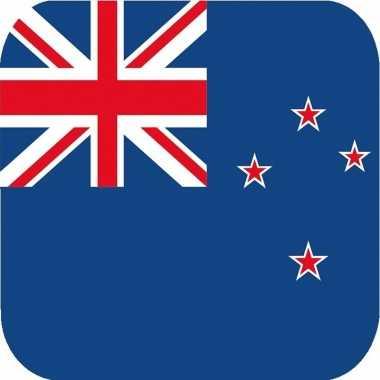 Goedkope x bierviltjes nieuw zeelandse vlag vierkant