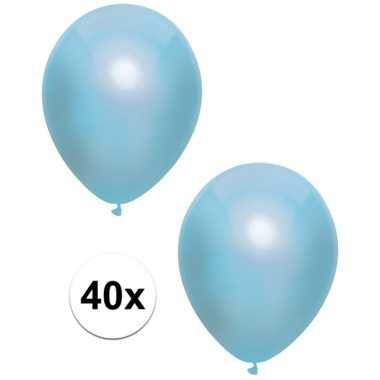 Goedkope x blauwe metallic ballonnen
