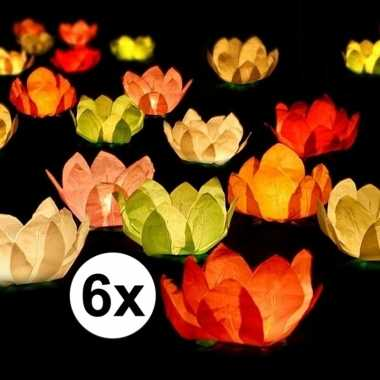 Goedkope x bruiloft/huwelijk drijvende kaarsen/lantaarns bloemen