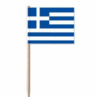 Goedkope x cocktailprikkers vlaggetjes griekenland