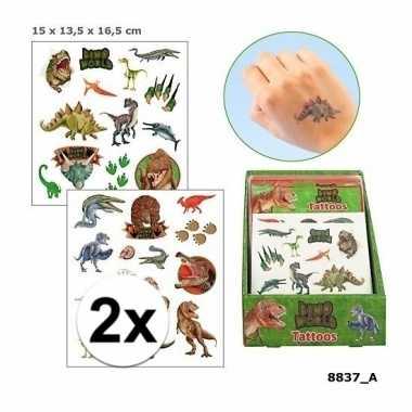 Goedkope x dinosaurus plak tattoos jongens dino world