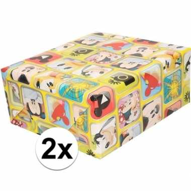 Goedkope x disney inpakpapier/cadeaupapier mickey mouse rol