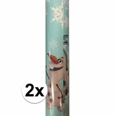 Goedkope x disney inpakpapier frozen olaf rol