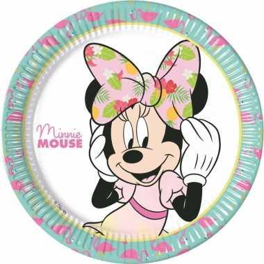 Goedkope x disney minnie mouse tropical themafeest bordjes