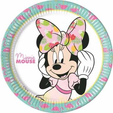 Goedkope x disney minnie mouse tropical themafeest bordjes