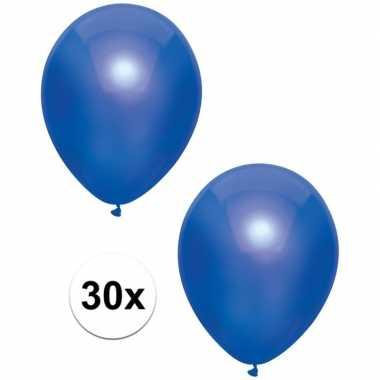 Goedkope x donkerblauwe metallic ballonnen
