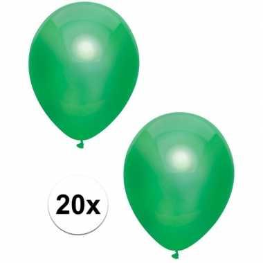 Goedkope x donkergroene metallic ballonnen