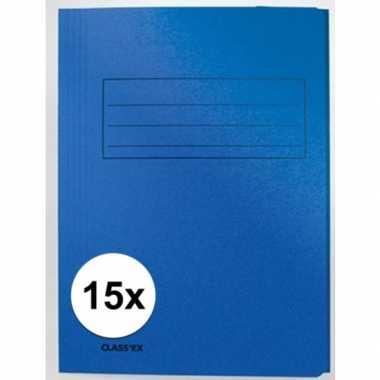 Goedkope x dossiermappen blauw