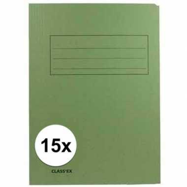 Goedkope x dossiermappen groen