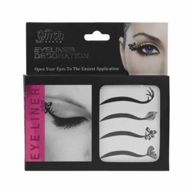 Goedkope x eyeliner decoratie stickers