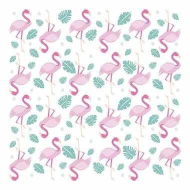 Goedkope x flamingo thema servetten