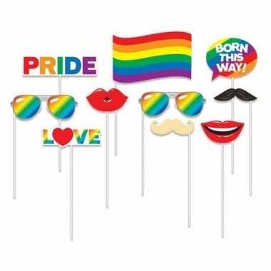 Goedkope x foto props regenboog/gay pride thema