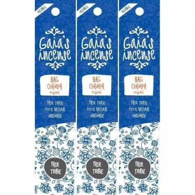 Goedkope x gaias incense luxe wierook stokjes nag champa original geu